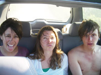 car, post beach - alexis, kate, justin
