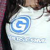 Gamers.com T shirt over bunny breasts