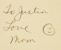 To Justin Love Mom :-)